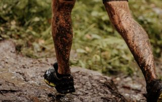trail running in the rain